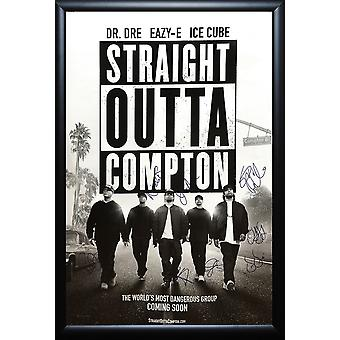 Straight Outta Compton - Signed Movie Poster