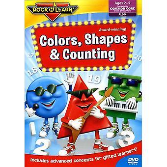 Rock'N Lær - farver figurer & optælling [DVD] USA import