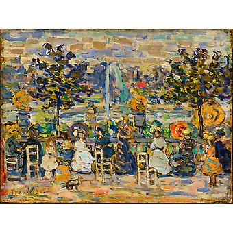 Maurice Prendergast - In Luxembourg Gardens Poster Print Giclee