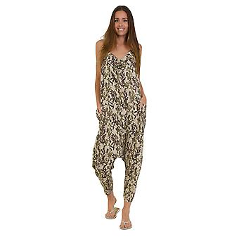 Jersey Jumpsuit - Camo Khaki Drop Crotch Lightweight Stretch Relaxed Fit Playsui