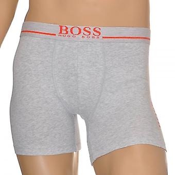 HUGO BOSS Logo Cotton Stretch Radfahrer Boxer Brief, grau, klein