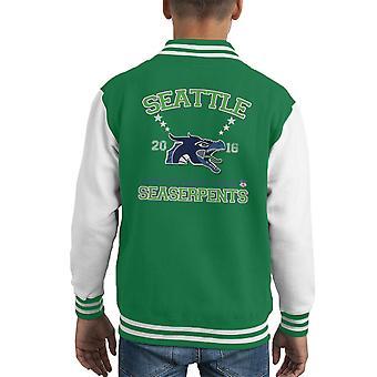Chaqueta Varsity de Seattle Seaserpents infantil de la Liga de animales fantásticos