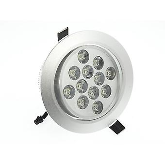 I LumoS High Quality Epistar 12 Watts Silver Circle Aluminium LED Spot Downlight
