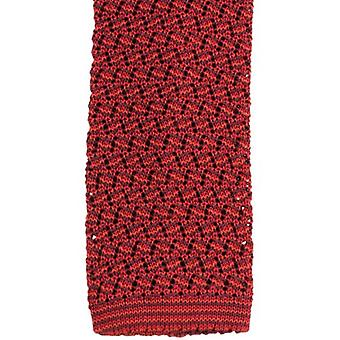 KJ Beckett Suzy Chevron Silk Tie - Wine/Red/Burnt Orange
