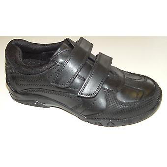 Hush Puppies Boys Jezza School Shoes Black F Fitting