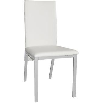 SZ Suárez Chair Sima 2 Upholstered White Steel Painted