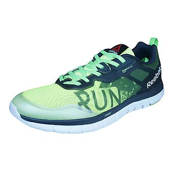 Reebok ZQuick Soul GP Mens Running Trainers / Shoes - Grey and Green