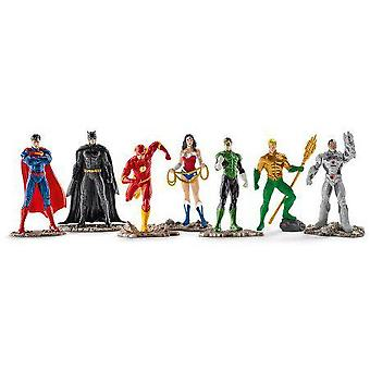 Schleich Set 7 Characters Justice League (Giocattoli , Figure D'Azione , Pupazzi)