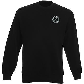 Små armar skola broderad Logo - officiella brittiska armén Heavyweight tröja