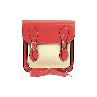 The Fashion Bible Double Buckle Satchel Bag In Watermelon