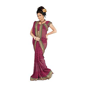 Banni Designer Party tragen Georgette Sari Saree