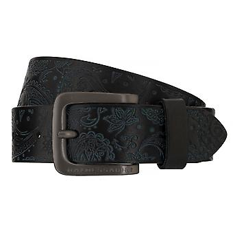 BALDESSARINI belt leather belts men's belts leather black 6516