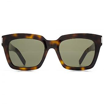 Saint Laurent Bold 1 Sunglasses In Havana Green