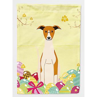 Carolines Treasures  BB6099CHF Easter Eggs Whippet Flag Canvas House Size