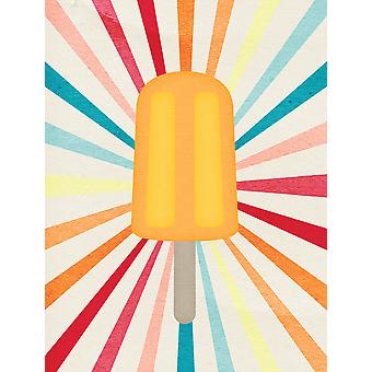 Carolines skatter SB3104GF oransje Popsicle flagg hage størrelse