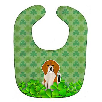 Carolines Treasures  BB6181BIB Beagle Tricolor Shamrocks Baby Bib