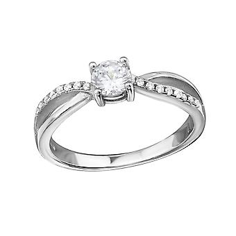 Round - Cubic Zirconia + 925 Sterling Silver Cubic Zirconia Rings