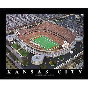 Kansas City - Chiefs At Arrowhead Stadiu Poster Print by Brad Geller (28 x 22)