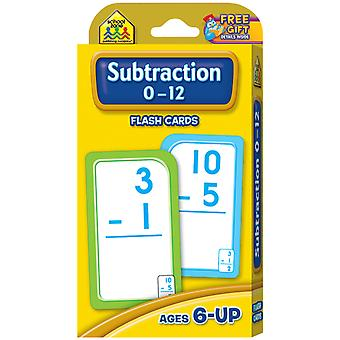 Flash Cards Subtraction 0 12 53 Pkg Szflc 4007
