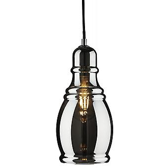 Olsson Chrome Bottle Pendant With Smokey Glass - Searchlight 3604sm