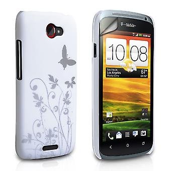 Yousave Accessories HTC One S Butterfly IMD Hard Case - White