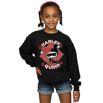 DC Comics Girls Chibi Harley Quinn Badge Sweatshirt