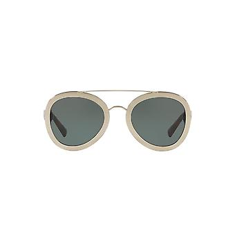 Valentino Two Tone Pilot Sunglasses In Light Gold