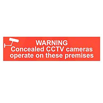 ASEC `Warning Concealed CCTV Cameras Operate On These Premises` Self Adhesive Sign
