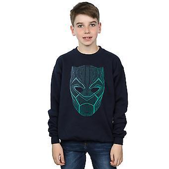 Marvel Boys Black Panther Tribal Mask Sweatshirt