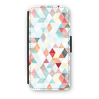 iPhone 5/5S/SE Flip Case - Coloured triangles pastel