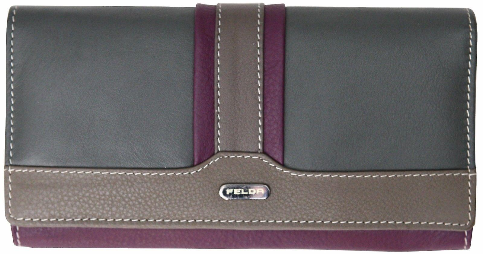 Felda RFID Ladies Purse Wallet Genuine Leather Multi Soft Credit Card Gift Box
