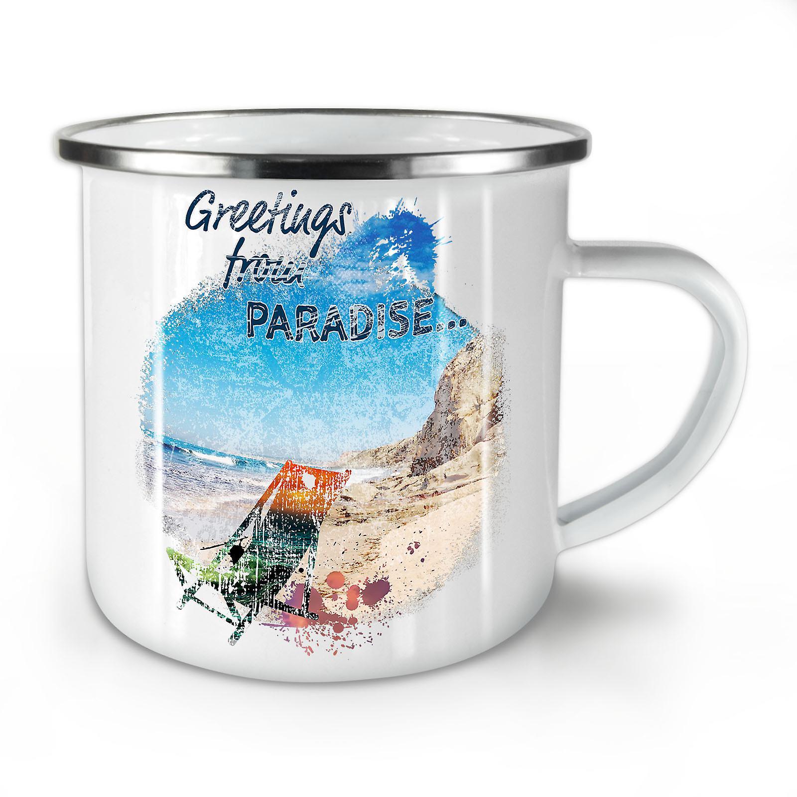 Whitetea Émail OzWellcoda Nouvelle Vacances Café Mug10 Paradis 7Yfyv6bg