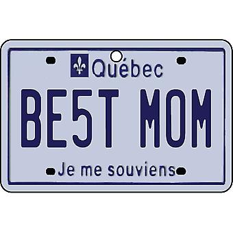 QUEBEC - Best Mom License Plate Car Air Freshener