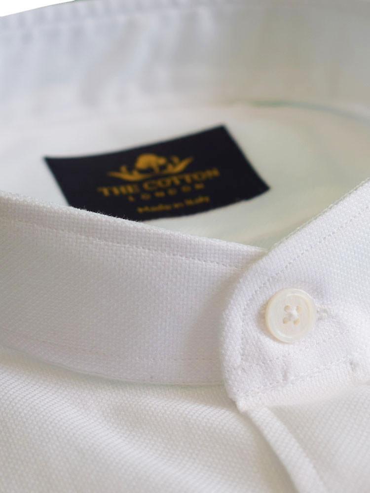 Canclini white band collar shirt