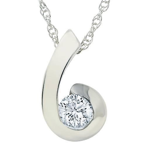 1 2ct Round Brilliant Diamond Solitaire Swirl pendentif