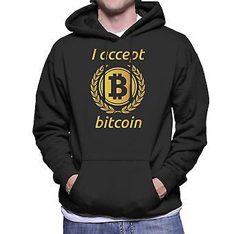 Ich akzeptiere Bitcoin Herren Sweatshirt mit Kapuze