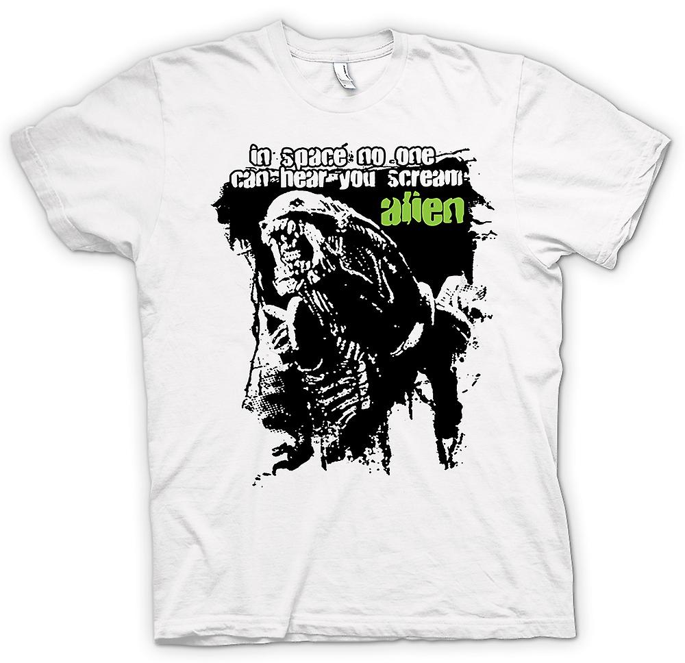 Mens T-shirt - Alien Hear You Scream - Sci Fi