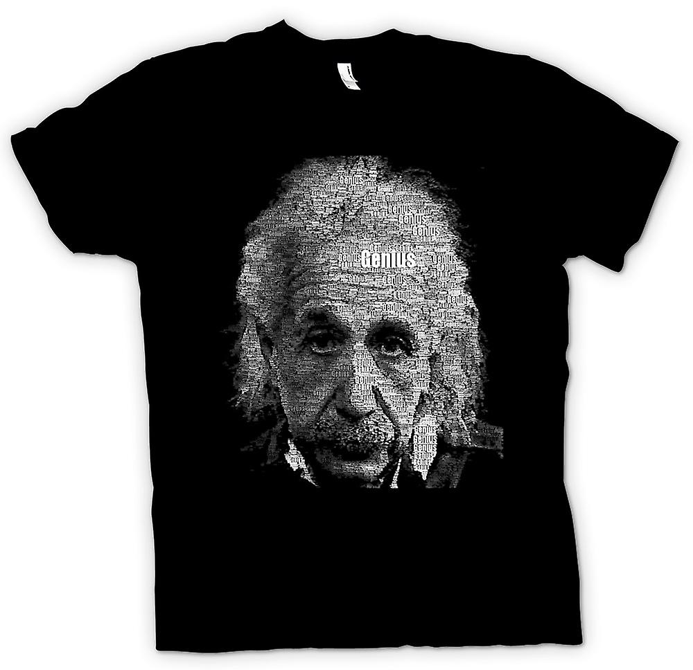 Mens T-shirt - Albert Einstein Word Cloud - Genius