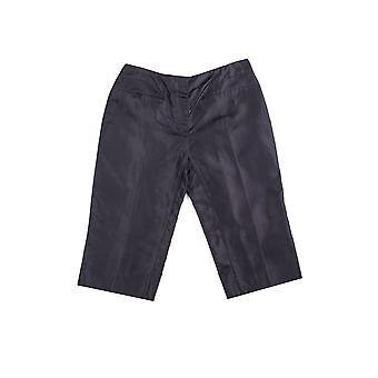 Prada Women's Silk Capris Pants Blue