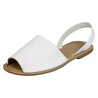 Ladies Leather Collection Slingback Mule Sandals F00143 - Dull Gold Leather - UK Size 8 - EU Size 41 - US Size 10