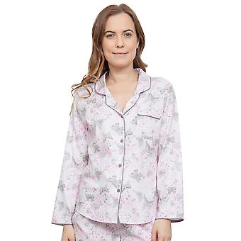 Cyberjammies 3767 Women's Sienna Pink Floral Pajama Pyjama Top