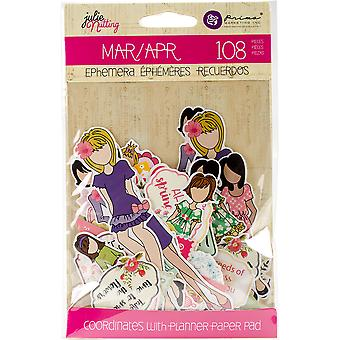 Julie Nutting Ephemera Cardstock Die-Cuts-March & April