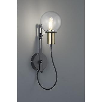 Trio Lighting Nacho Modern Black Matt Metal Wall Lamp