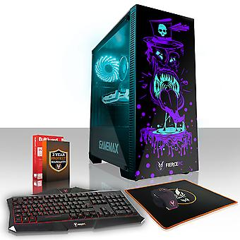 Felle GOBBLER Gaming PC, snelle Intel Core i7 7700 4.2 GHz, 1 TB SSHD, 8 GB RAM, GTX 1050 Ti 4 GB