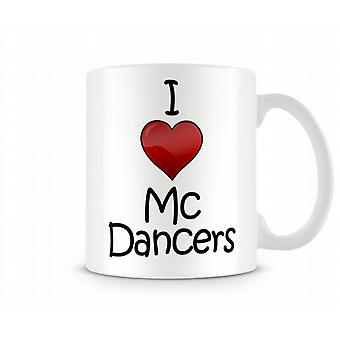 Io amore MC ballerini stampato Mug