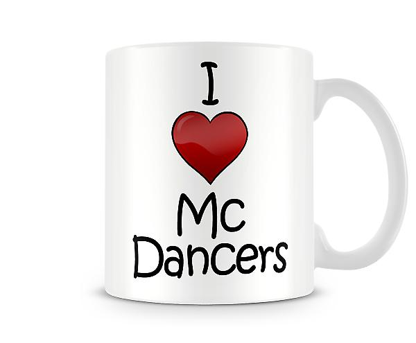 Ik heb liefde MC dansers afgedrukt mok