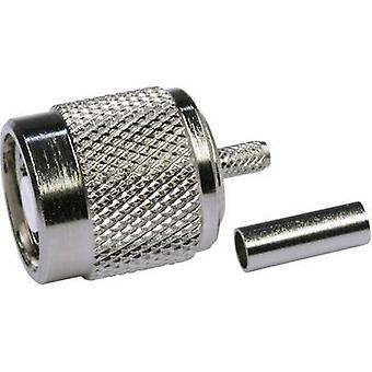 TNC reverse polarity connector Plug, straight 50 Ω Telegärtner J