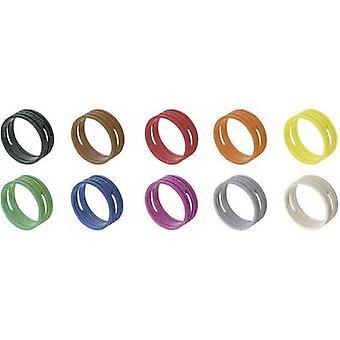 ID ring Neutrik XXR-SET/MIX Black, Brown, Red, Orange, Yellow, Green, Blue, Violet, Grey, White 10 pc(s)