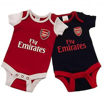 Arsenal 2 Pack Body 3/6 mnd NR