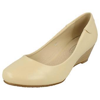 Damen-Spot auf niedrigen Keil Gericht Schuhe F9806